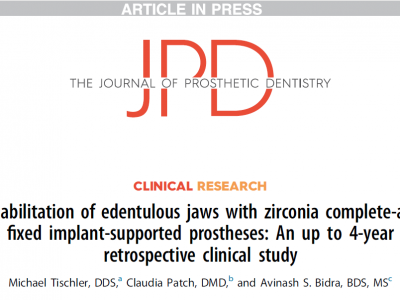 Groundbreaking Study published in Journal of Prosthetic Dentistry